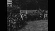Italian Alpine Troops gathered at White House Stock Footage