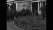 Italian Alpine troops leading the Army Day parade from White House Stock Footage