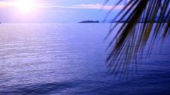 Sunrise at tropical beach, Koh Samui Island, Thailand. HD. 1920x1080 Stock Footage