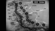 Animated map of war against Germany Stock Footage