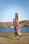 goddess of the wind - stock photo