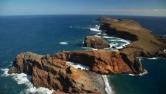 Landscape at the north coast of Ponta de Sao Lourenco. Madeira Island, Portugal Stock Footage