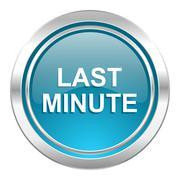 last minute icon. - stock illustration