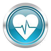 pulse icon. - stock illustration