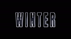 word winter on fire. word is burned. A Luma Matte (Alpha Channel) is Included. - stock footage