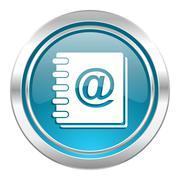 address book icon. - stock illustration