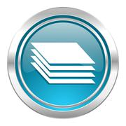 layers icon, gages sign. - stock illustration