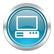 Computer icon, pc sign. Stock Illustration