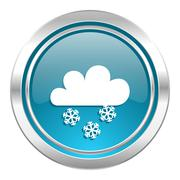 Stock Illustration of snowing icon, waether forecast sign.