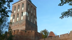 Frombork, Poland. Bell Tower, currently museum, vantage point and planetarium - stock footage