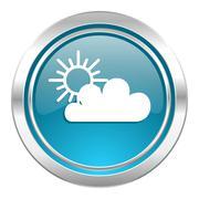 cloud icon, waether forecast sign. - stock illustration