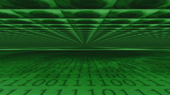 Animation moving through vast interior of binary eye supercomputer Stock Footage