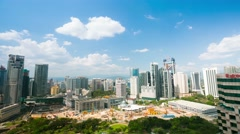 4K timelapse, cloudscape view of the Kuala Lumpur City Center. Stock Footage