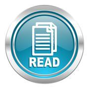 read icon. - stock illustration