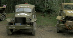 American military vehicles camp 02 Stock Footage
