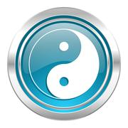 Ying yang icon. Stock Illustration
