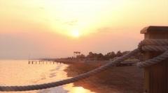 Sunset at the coast Stock Footage