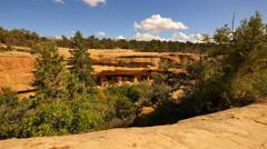 4K Mesa Verde Timelapse 09 Spruce Tree Palace Native American Ruins Colorado - stock footage