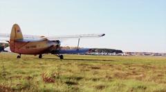 Takeoff field Stock Footage