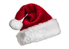 Santa hat on white - stock photo