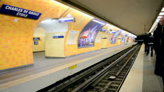 Paris Metro (AKA Metropolitain) in Paris, France, - stock footage
