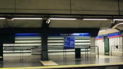 Empty metro station in Madrid, Spain HD Stock Footage