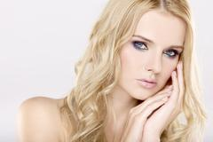 Young pretty woman with beautiful blond hairs Kuvituskuvat