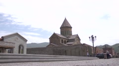 Georgia - Mtskheta - Cathedral Mtskheta Stock Footage