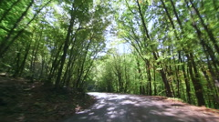 Driving down the twisting mountain road with 180 degrees curves Stock Footage