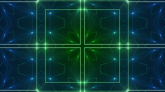 4k loop background, blue and green kaleidoscope light Stock Footage
