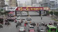 Streets of Nanning, China Stock Footage