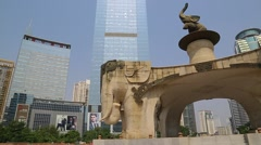 Five Elephant Statue - Nanning, China Stock Footage