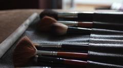 Brushes for make-up Stock Footage