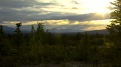 Yukon Kluane Sunset Stock Footage