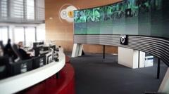 Multi-camera video surveillance room - 1080p - stock footage
