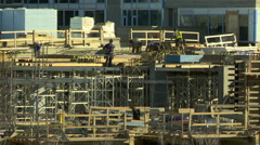 Time lapse of apartment tower construction Stock Footage