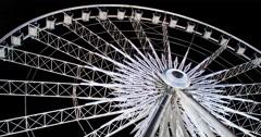 Niagara Skywheel rotating on night sky 4k Stock Footage