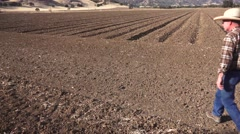 drought Capay Valley, farming the land - stock footage