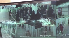 Multi-camera video surveillance metro - 1080p - stock footage