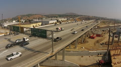 Freeway (with Construction) - stock footage
