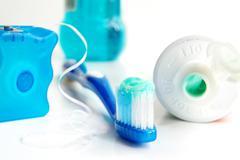 tooth brush etc. - stock photo