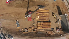Construction Site from Above - stock footage