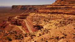 Moki Dugyway 05 Utah USA Stock Footage