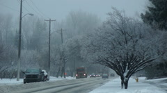 Winter Road Clearing Stock Footage