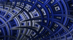 Stock Video Footage of Continuous Fractal Loop: Cool Blue Archway