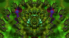 Continuous Fractal Loop: Magical Forest Aerial (Concentric) Stock Footage