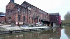 Old factory building Stock Footage