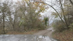 Driving on mountain dirt road Stock Footage
