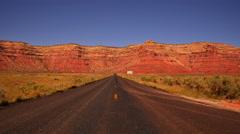 Moki Dugyway 07 Utah USA Stock Footage