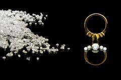 Diamond Ring Setting - stock photo